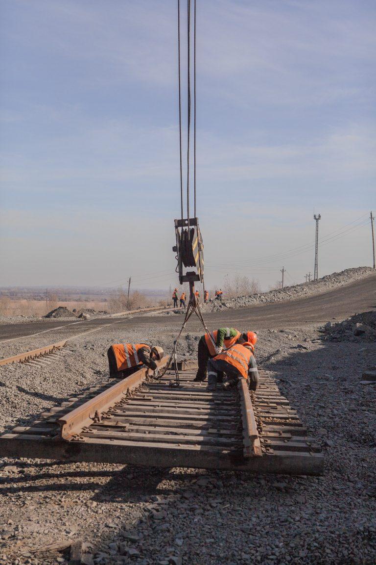 Railway road construction